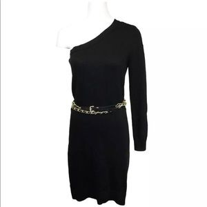 Michael by Michael Kors One Shoulder Sweater Dress